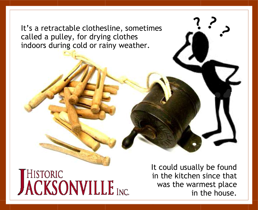 October History Mystery Answer - Indoor Clothesline